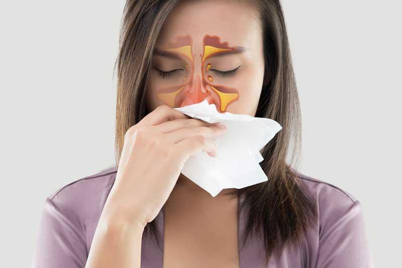 副鼻腔炎、アレルギー性鼻炎など